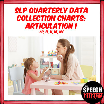 SLP Quarterly Data Collection Charts: Articulation 1 /P, B, H, M, N/