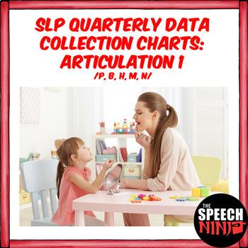 SLP Quarterly Data Collection Charts: Articulation 1 /P, B