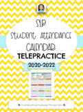 SLP STUDENT ATTENDANCE CALENDAR FOR TELEPRACTICE-EDITABLE VERSION