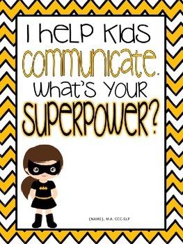 SLP SUPERPOWER {Editable Poster Template}