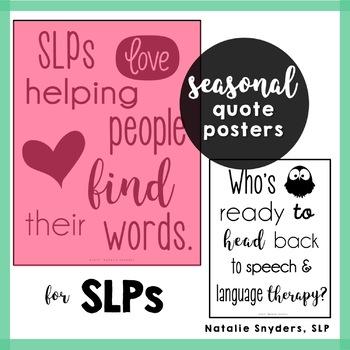 SLP Seasonal Quote Posters