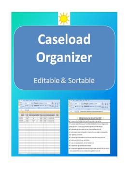 Caseload Organization- editable and sortable