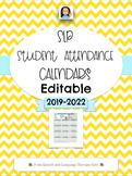 SLP Student Attendance Calendar 2020-EDITABLE VERSION