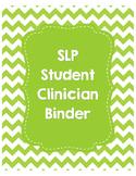 SLP Student Clinician Binder-Lime Green