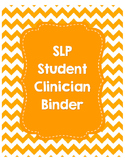 SLP Student Clinician Binder-Orange
