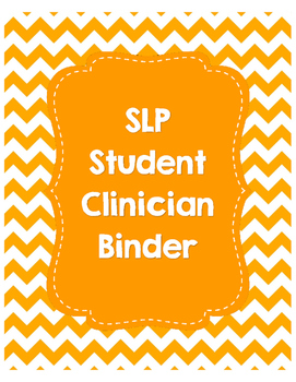 SLP Student Clinician Binder-Orange