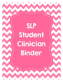 SLP Student Clinician Binder-Pink