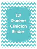 SLP Student Clinician Binder-Teal