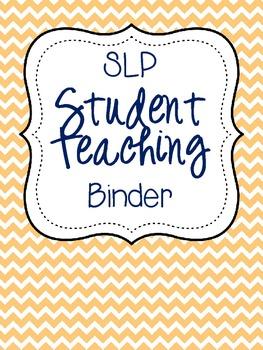 SLP Student Teaching Binder {color}