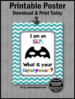 SLP Poster, Speech and Language Therapy Back to School Office Poster