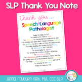 SLP Thank You Poster