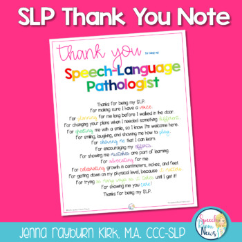 SLP Thank You Poster