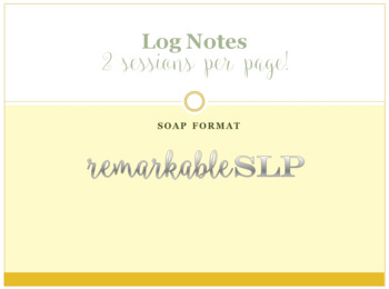 SLP Therapy SOAP Note: 2 days/sessions
