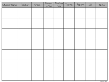 SLP To Do List and Evaluation Tracker