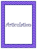 """Speech Therapy """"Topic""""  Binder Labels For Organization"""