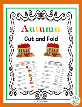 Fall-Autumn Cut & Fold (Wh Questions) Freebie