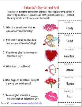 Valentine's Day Cut & Fold Language Activities