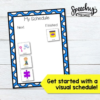 SLP Visual Supports Pack for Speech Therapy