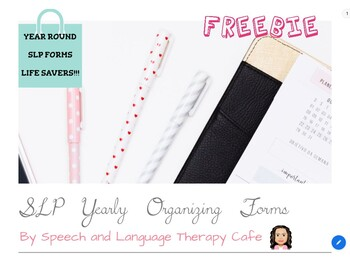 SLP YEARLY ORGANIZING FORMS-FREEBIE