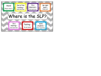 SLP door sign