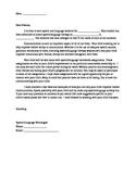 SLP to Parent Letter about Homework Program