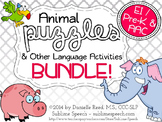Animal Puzzles and Other Language Activities BUNDLE!