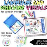 HUGE Preschool Speech Therapy Behavior and Language Visuals