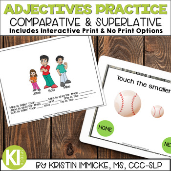 Comparative-Superlative Adjectives Print & No Print Practice