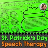 St. Patrick's Day Speech Therapy | March Speech Therapy