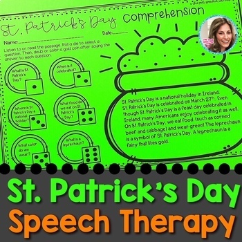 St. Patrick's Day Speech Therapy