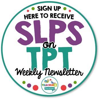 SLPs on TPT Newsletter Sample & Signup