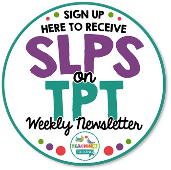 SLPs on TPT Newsletter Sample & Signup
