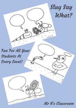 SLUG SAY WHAT?! Fun Speech Activity! Voice Bubble Communication Aid