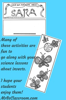 SLUGS & BUGS!! Springtime Activity Pack 1-3 For Insect Studies FUN Printables!