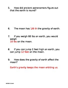 SLesson 08 Part 1 Bill Nye the Moon Answers