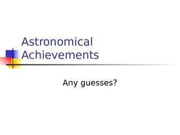 SLesson 13 Astronomical Achievements