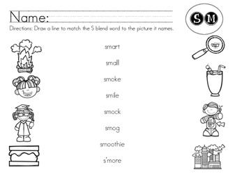 SM Blend Worksheet Packet