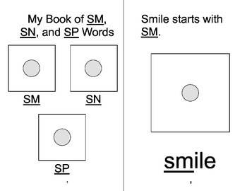 SM, SN, SP BLENDS Adapted Velcro ARTICULATION Book, SPEECH THERAPY