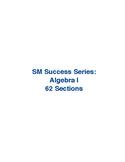 SM Success Series: Algebra I Full Bundle
