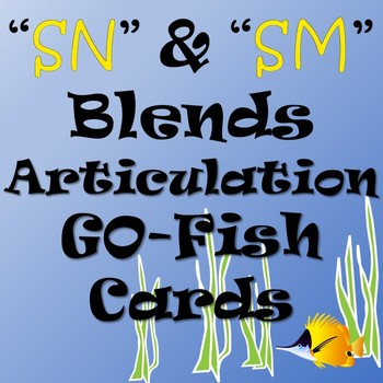 SM and SN blends Go-Fish Cards