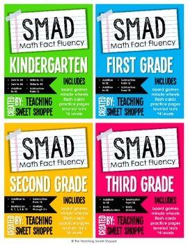 SMAD Math Fact Fluency Program BUNDLE