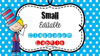 {{SMALL}} Editable Classroom Labels