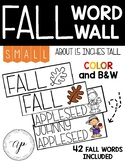 SMALL Fall Word Wall Words
