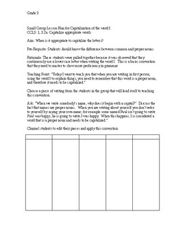 SMALL GROUP LESSON PLANS FOR THE WRITING WORKSHOP