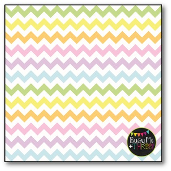 SMALL Pastel Chevron Digital Papers {Commercial Use Digital Graphics}
