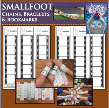 SMALLFOOT Movie Film Study Activities Chains Bracelets Bookmarks