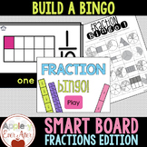 SMART BOARD Fraction Build a Bingo Game - NO PREP