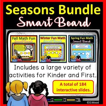 SMARTboard Math Seasons Bundle: Autumn, Winter & Spring
