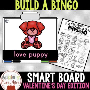 SMART BOARD Valentine's Day Build A Bingo - NO PREP