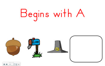 SMART Board Activity-Begins with A